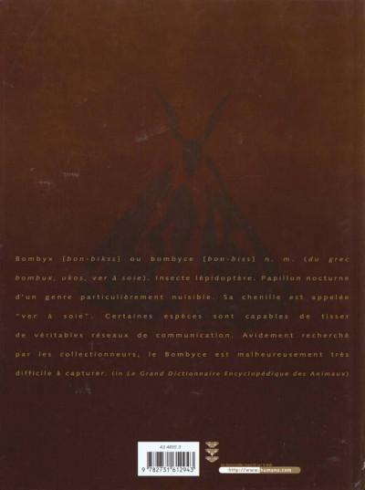 Dos le réseau bombyce tome 1 - papillons de nuit