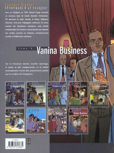 Dos Stéphane Clément tome 9 - vanina business