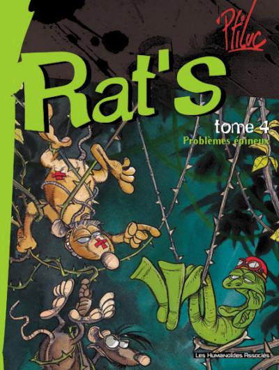 Couverture rat's tome 4 - problèmes épineux