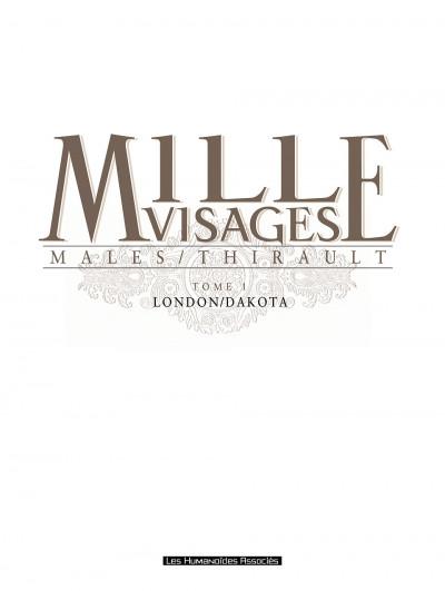 Page 1 mille visages tome 1 - london-dakota