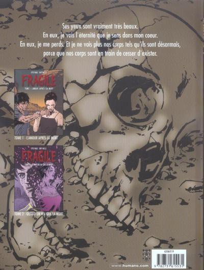 Dos Fragile tome 3 - tu n'es que poussière