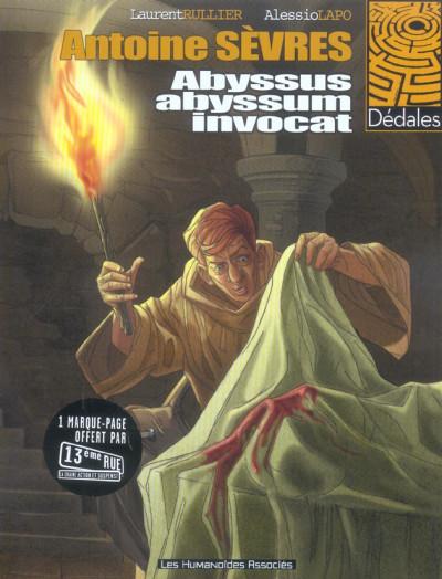 Couverture antoine sèvres tome 1 - abyssus abyssum invocat