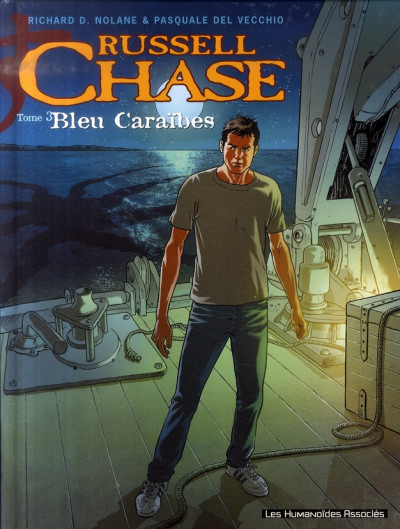 Couverture Russel Chase tome 3 - bleu caraïbes