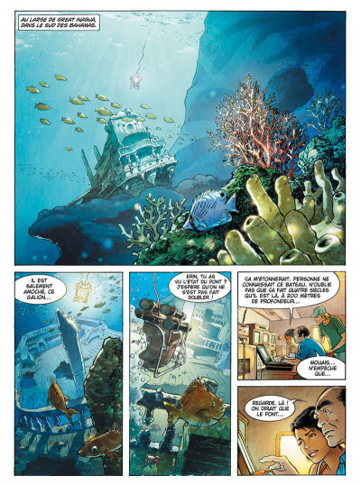Page 2 Russel Chase tome 3 - bleu caraïbes