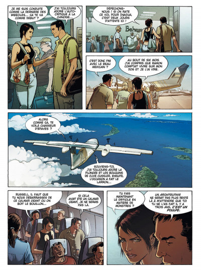 Page 9 Russel Chase tome 3 - bleu caraïbes