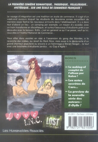 Dos love i.n.c. tome 2 - Lost... in Cap d'Agde !