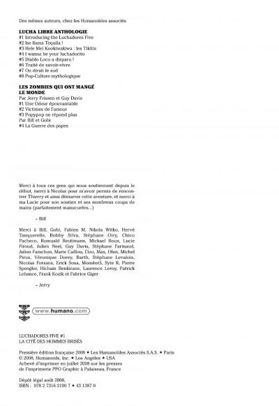 Page 2 luchadores five tome 1 - la cité des hommes brisés