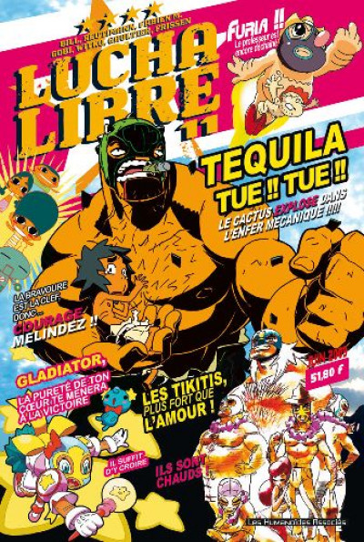 Couverture lucha libre tome 11 - tequila tue !! tue !!