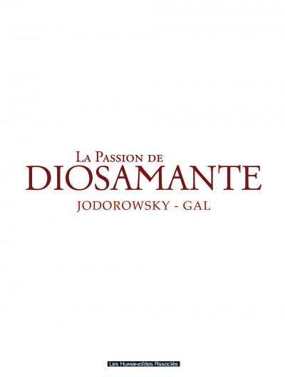 Page 3 diosamante ; la passion de diosamante ; intégrale