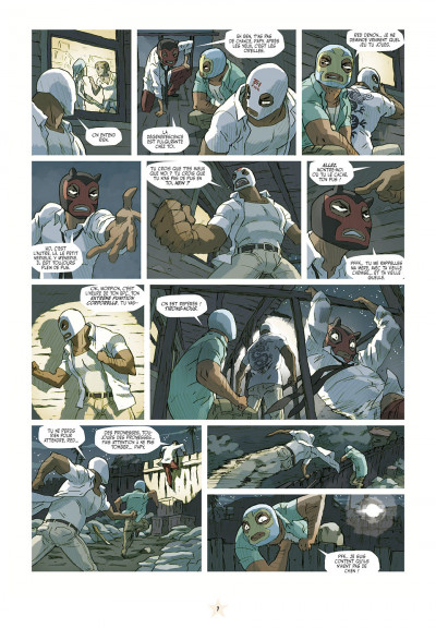 Page 7 luchadores five tome 3 - Les Créatures du lac de cuir noir