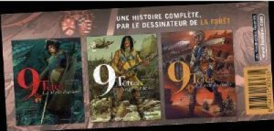 Couverture 9 têtes - pack tome 1 à tome 3