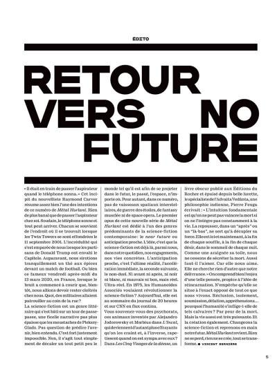 Page 3 Métal hurlant - Le futur c'est déjà demain + ex-libris offert