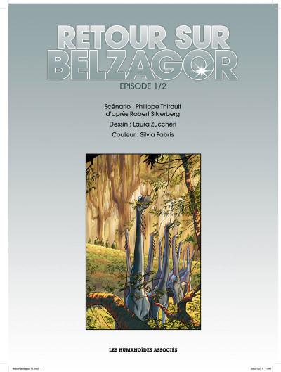Page 1 Retour sur Belzagor tome 1 + ex-libris offert