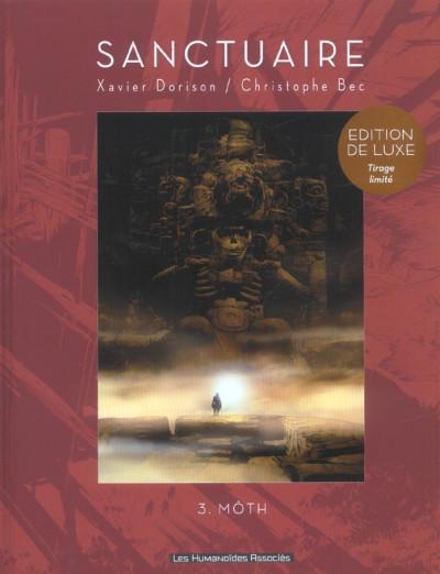 Couverture sanctuaire tome 3 - édition limitée noir et blanc - môth