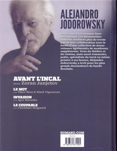 Dos Jodorowsky 90 ans tome 4 - Avant l'Incal