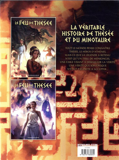 Dos Le feu de Thésée - coffret