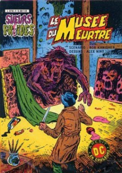 Couverture Sueurs froides (Aredit) tome 4 - Le musée du meurtre (éd. 1982)