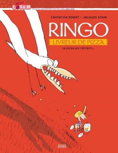 Couverture ringo, livreur de pizza