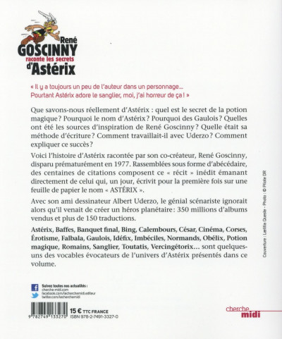 Dos Goscinny raconte le secret d'Astérix