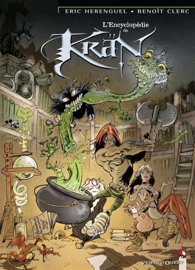 Couverture krän le barbare tome 6 - l'encyclopédie de kran