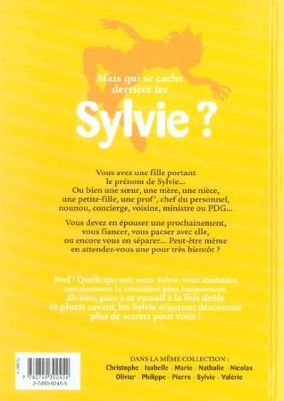 Dos l'encyclopédie des prénoms en bd tome 10 - sylvie
