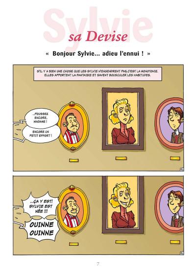 Page 0 l'encyclopédie des prénoms en bd tome 10 - sylvie