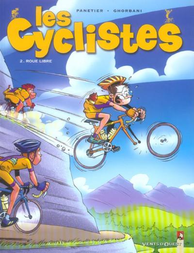 Couverture les cyclistes tome 2 - roue libre