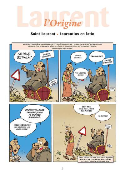 Page 6 l'encyclopédie des prénoms en bd tome 12 - laurent