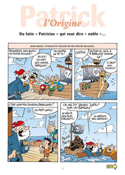 Page 6 l'encyclopédie des prénoms en bd tome 17 - patrick