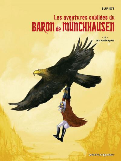 Couverture les aventures oubliées du baron de münchhausen tome 2 - les amériques