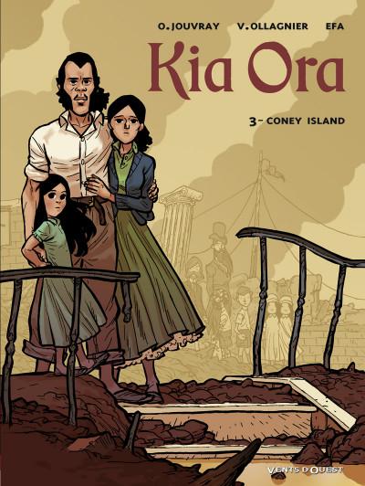 Couverture kia ora tome 3 - coney island