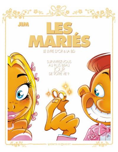 Couverture les mariés ; coffret album + livre d'or