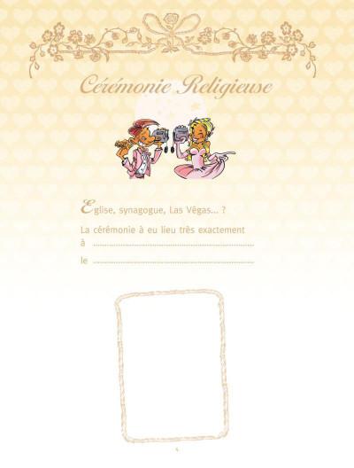 Page 2 les mariés ; coffret album + livre d'or