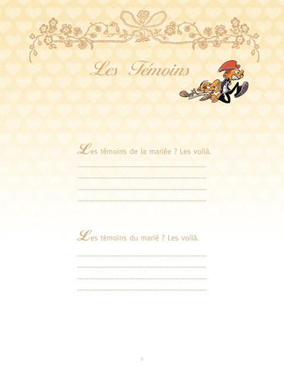 Page 3 les mariés ; coffret album + livre d'or