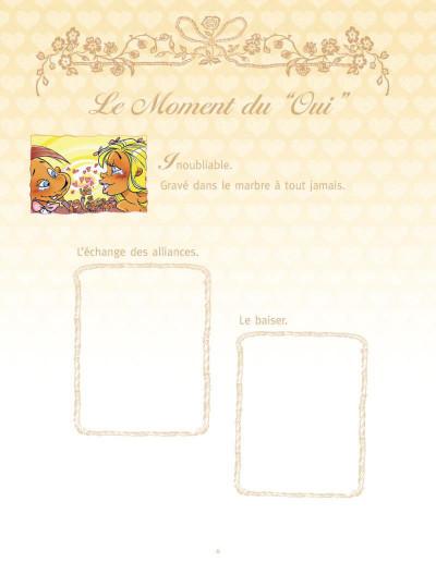 Page 4 les mariés ; coffret album + livre d'or