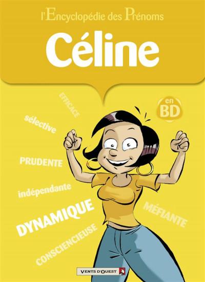 image de l'encyclopédie des prénoms en bd ; céline