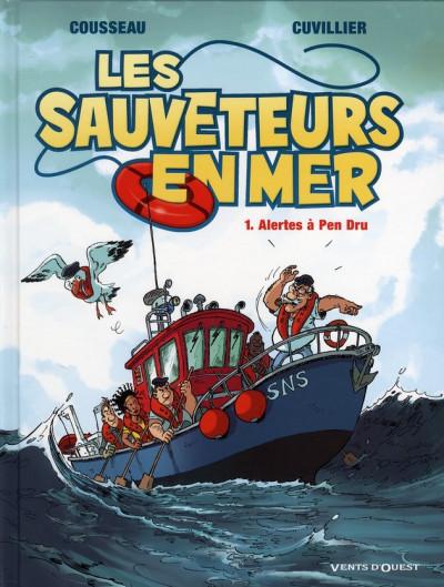 Couverture les sauveteurs en mer tome 1 - alerte à Pen Dru