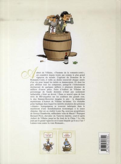Dos la Romanée contée ; Pinot noir contre dragon blanc