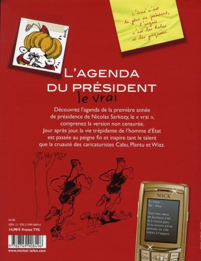 Dos l'agenda du président ; le vrai
