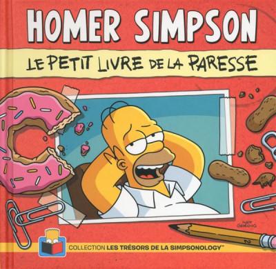 Couverture Homer Simpson ; le petit livre de la paresse