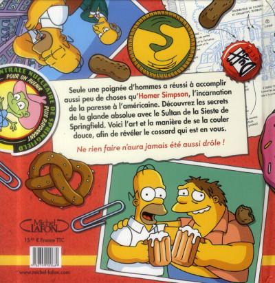 Dos Homer Simpson ; le petit livre de la paresse