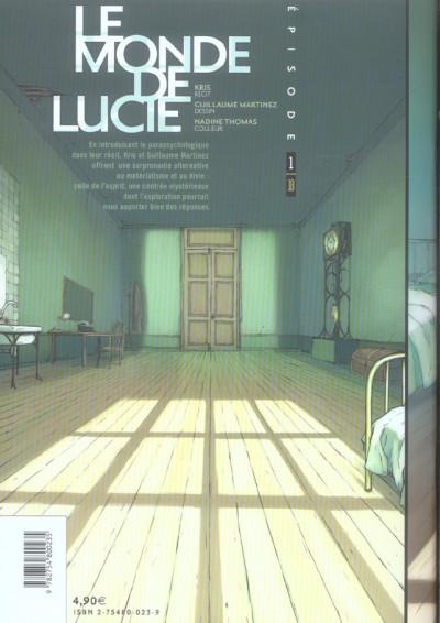 Dos Le monde de Lucie tome 1