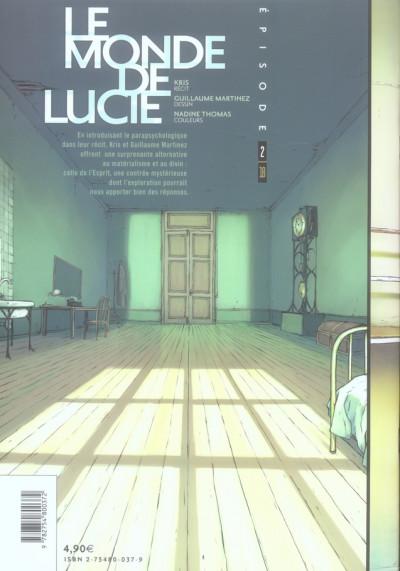 Dos Le monde de Lucie tome 2