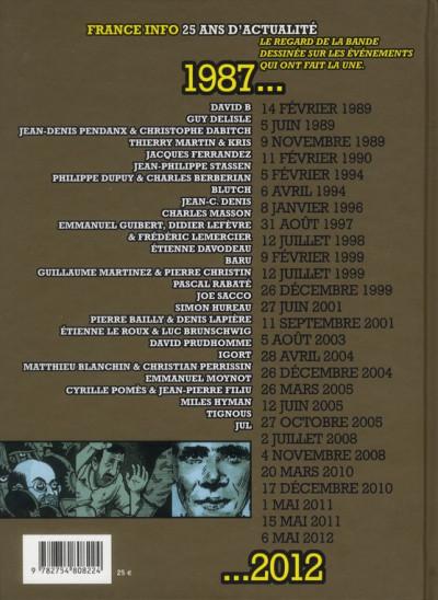 Dos le jour où... 1987-2012 ; France Info, 25 ans d'actualités