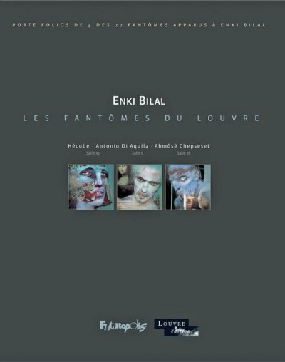 image de les fantômes du Louvre ; pochette d'illustrations