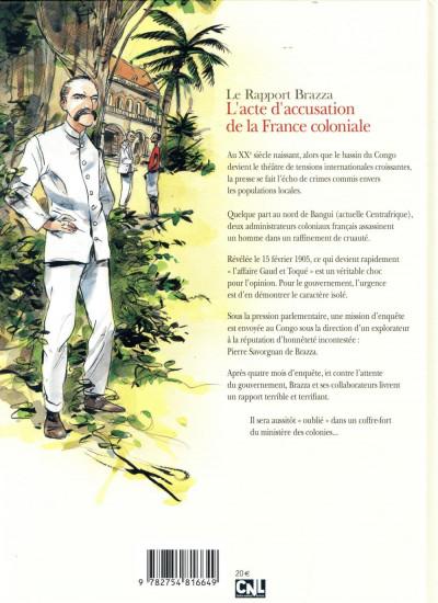 Dos Le rapport Brazza - Congo 1905