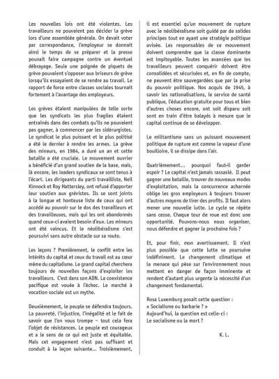 Page 4 Le choix du chômage