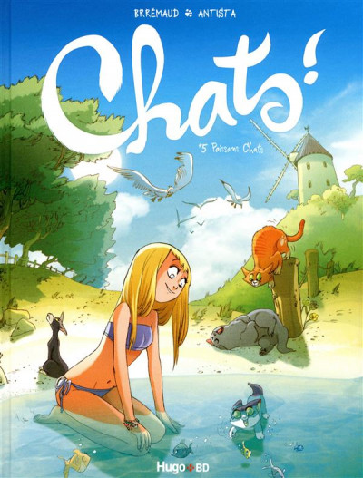 Couverture chats tome 5 - poissons chats