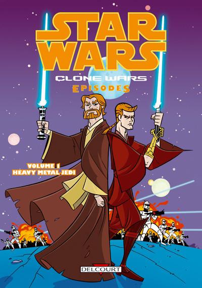 Couverture star wars - clone wars episodes tome 1 - heavy metal jedi