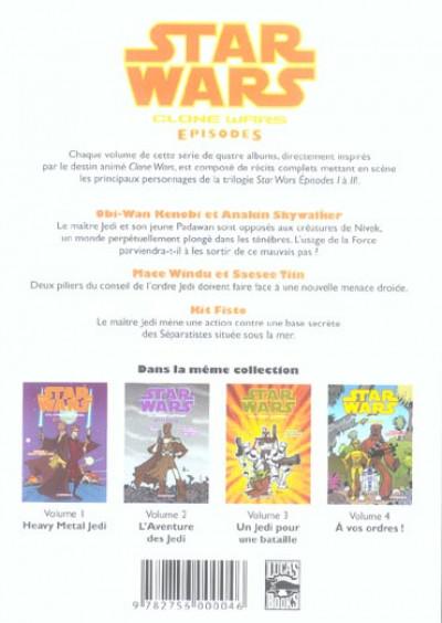 Dos star wars - clone wars episodes tome 1 - heavy metal jedi